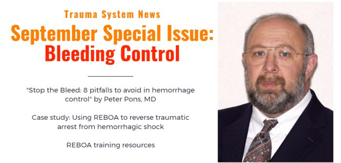 September 2017 Special Issue on Bleeding Control